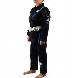 Kimono de JJB enfant Bõa Leão 2.0 - Noir | un kimono pour les clubs de jiu-jitsu bresilien