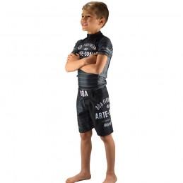 Fightshort enfant Jogo no chão - Noir | arts martiaux