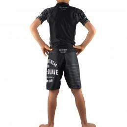 Fightshort enfant Jogo no chão - Noir | entrainement