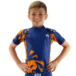 Rashguard enfant Leão - Bleu | Bōa Figthwear