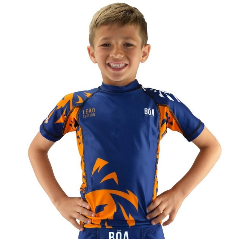 Rashguard enfant Leão - Bleu | de sport de combat