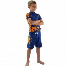Rashguard enfant Leão - Bleu | entrainement