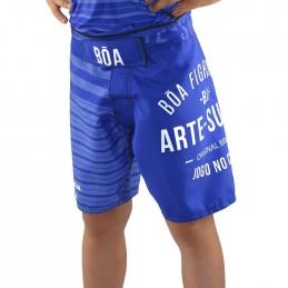 Pantaloncino MMA Bõa Jogo No chão Blu Bambino