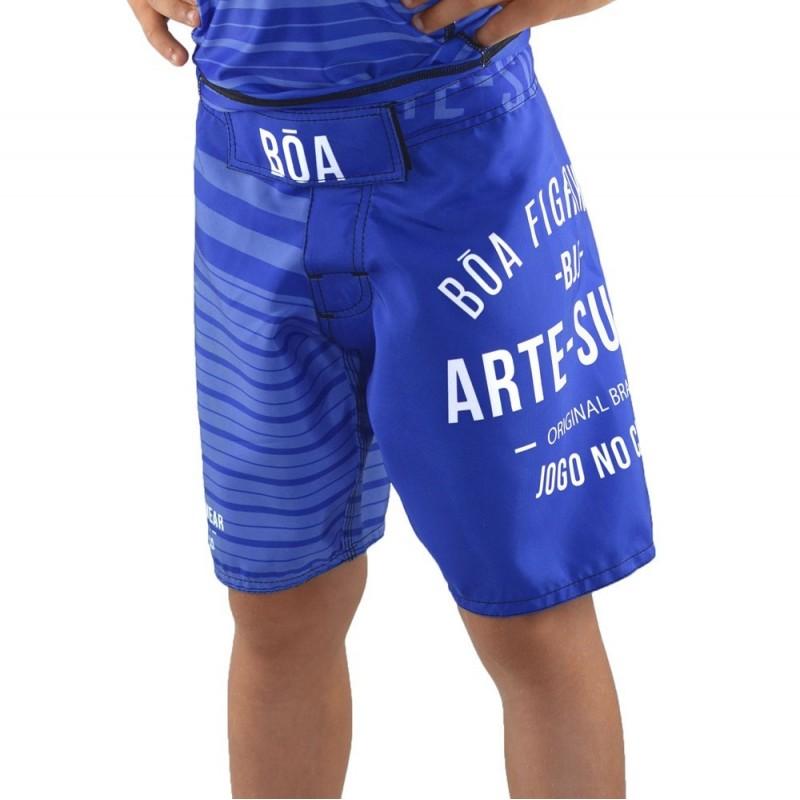 Fightshort enfant Jogo no Chão - Bleu | de sport de combat