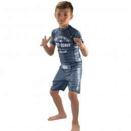 Rashguard enfant Jogo no Chão - Gris | entrainement
