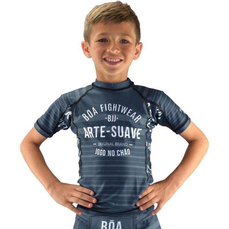 Rashguard enfant Jogo no Chão - Gris | de sport de combat