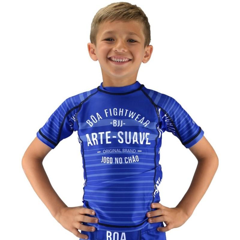 Bõa Kids Rashguard Jogo No Chão Blau - für Sport