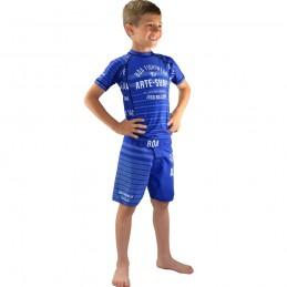 Rashguard Bõa Jogo No Chão Bleu Enfant