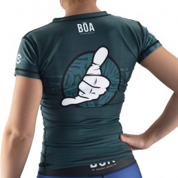 Surf Rash Guard Mujer Bõa Surfing Team - Verde
