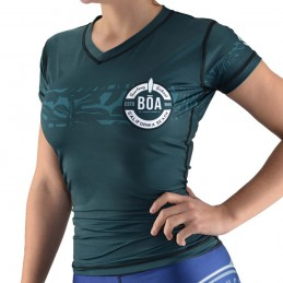 Rash Guard de Surf femme Surfing Team - Vert | lycra