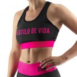Reggiseno Sportivo da Donna Bõa Estilo De Vida - Rosa