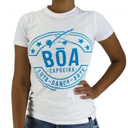 Tshirt Mulher Bõa Capoeira Luta Danca - Branco