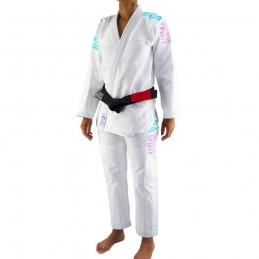 Bjj Gi Kimono Bõa Tudo Bem V2 Mujer - Blanco