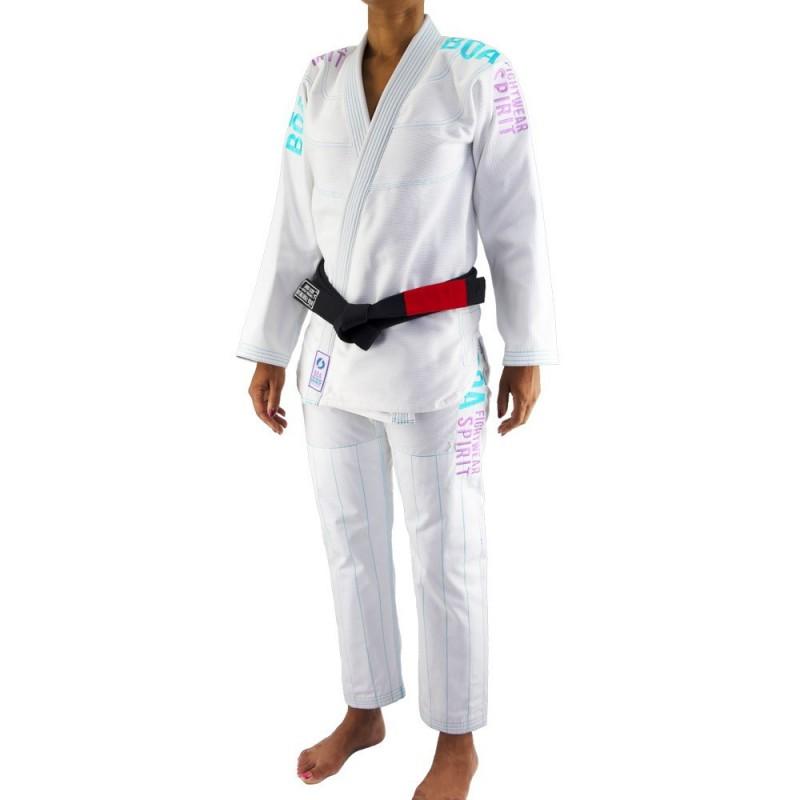 Bjj Gi Kimono Bõa Tudo Bem V2 Mujer - Blanco | artes marciales