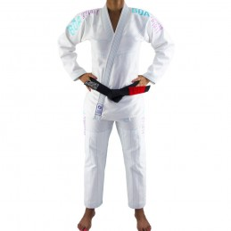 Kimono de JJB femme Tudo Bem - Blanc | un kimono pour les clubs de jjb