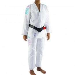 Kimono de JJB femme Tudo Bem - Blanc | pour les clubs sur tatamis