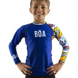 Rashguard Enfant Bõa Bom Vem - Bleu