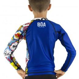 Rashguard Niño Bõa Bom Vem - azul | para competiciones