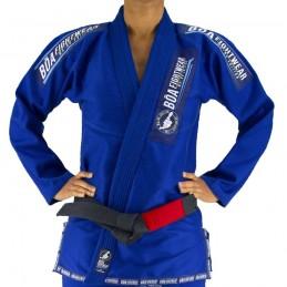 Bjj Gi Kimono Bõa MA-8R Mujer - Azul | para clubes sobre tatamis