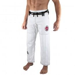 Pantalones de jiu-jitsu brasileño Bõa Jogo no Chão - Blanco