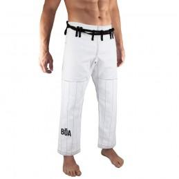 Pantalones de jiu-jitsu brasileño Bõa Jogo no Chão - Blanco | la práctica del jiu-jitsu brasileño