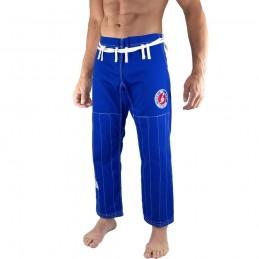 Calças de Jiu-Jitsu Brasileiro Bõa Jogo no Chão - Azul