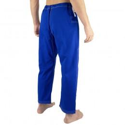 Pantalones de jiu-jitsu brasileño Bõa Jogo no Chão - Azul | para clubes sobre tatamis