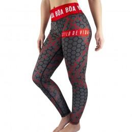 Leggings Mujer Bõa Essencia - Rojo