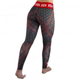 Legging femme Essencia - Rouge | pour les entrainements