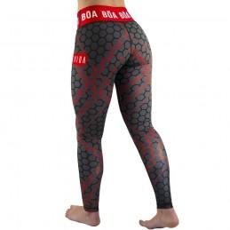 Leggings Mujer Bõa Essencia - Rojo | de lucha