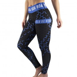 Legging femme Essencia - Bleu | pour le sport