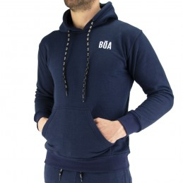 Sudadera con Capucha Bõa Esportes - Azul | corriendo