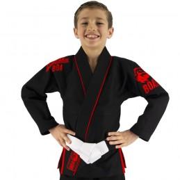 Bjj Gi Kimono Niño Mata Leão - Negro | la práctica del jiu-jitsu brasileño