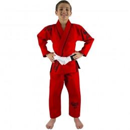 Bjj Gi Kimono Niño Mata Leão - Rojo