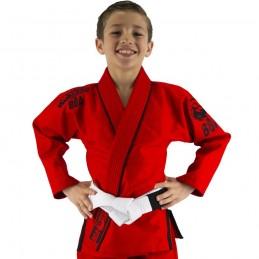 Bjj Gi Kimono Niño Mata Leão - Rojo | la práctica del jiu-jitsu brasileño