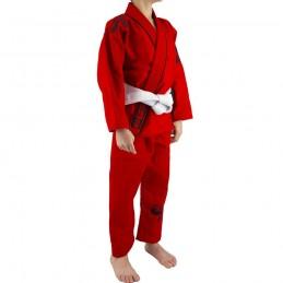Bjj Gi Kimono Niño Mata Leão - Rojo | un kimono para los clubes de jiu-jitsu brasileño