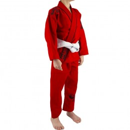 Kimono de JJB enfant Mata Leão - Rouge | un kimono pour les clubs de jjb