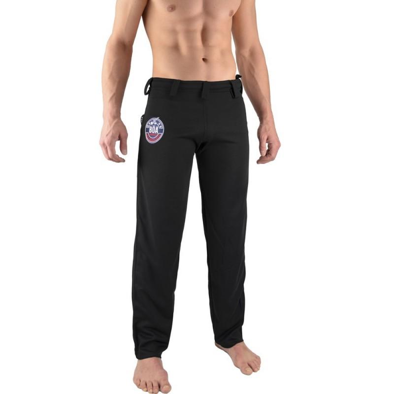 Pantalon de Capoeira Fit homme Arte - Noir | abada
