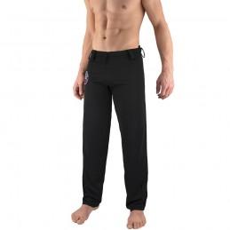 Pantalones de Capoeira Bõa Hombre Arte-Fit - Negro | berimbau