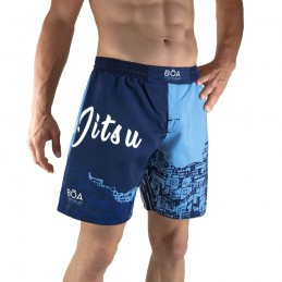 Fightshort Nogi Grappling sans scratch | look Rio | Bōa Fightwear