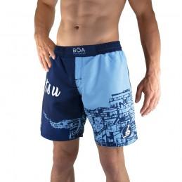 Fight shorts Bõa Rio de Janeiro - Azul | para deportes