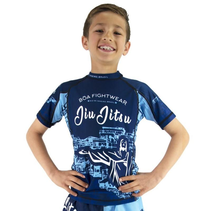 Bõa Kinder Rashguard Rio de Janeiro - Blau  - für Sport