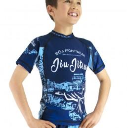 Bõa Kid's Rashguard Rio de Janeiro  - Blue