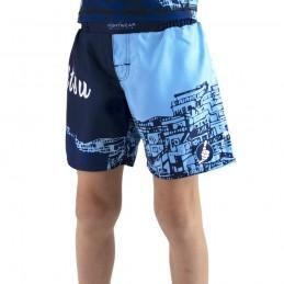 Pantaloncino MMA bambino Bõa Rio de Janeiro - Blu