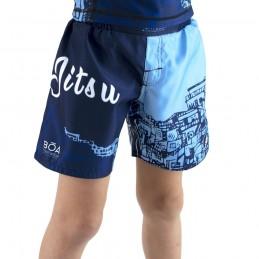 Pantalones niño mma Bõa Rio de Janeiro - azul | para deportes