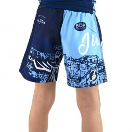 Pantalones niño mma Bõa Rio de Janeiro - azul | Artes marciales
