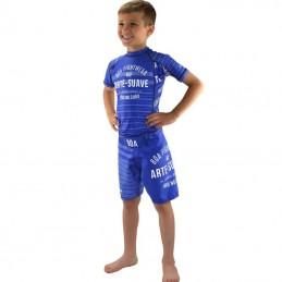 Tenue enfant de NoGi - Jogo no Chão - Bleu | de combat