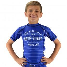 Футболка с компрессией для детей напольная игра - синий