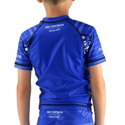 Rashguard bambini jogo no chão - Blu
