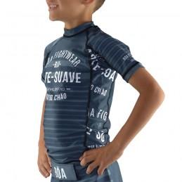 Детская компрессионная футболка наземная игра - серый